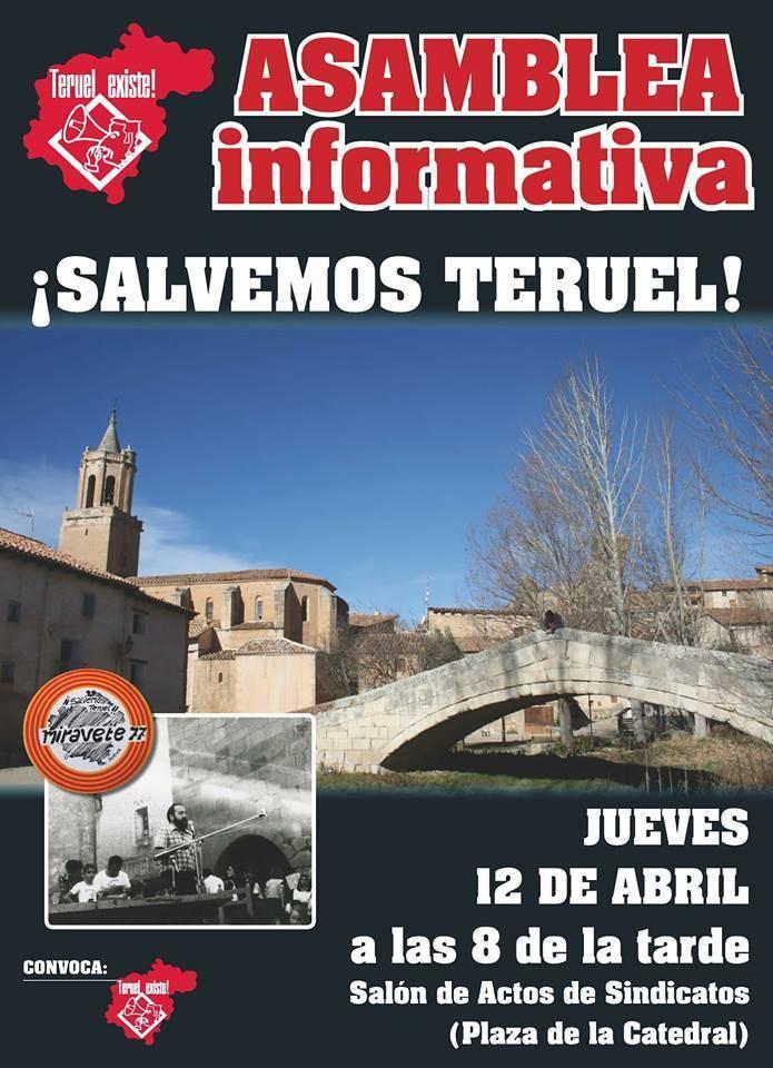 Asamblea informativa Salvemos Teruel. Plataforma ciudadana Teruel Existe
