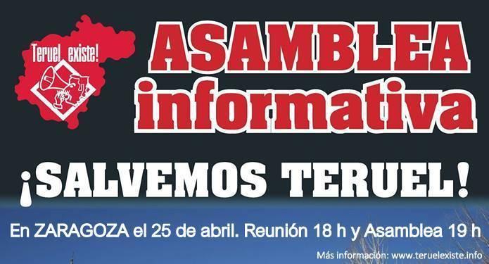 Cartel Asamblea ¡Salvemos Teruel! Teruel Existe
