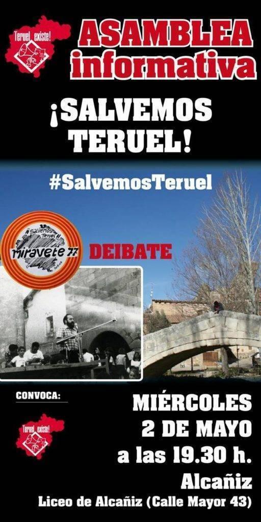 Asamblea Informativa Salvemos Teruel en Alcaniz