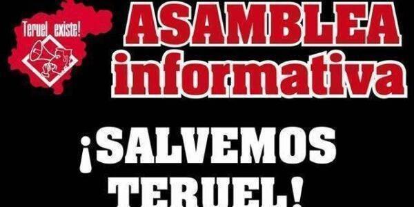 Asamblea informativa Teruel Existe en Alcañiz. 2 de Mayo
