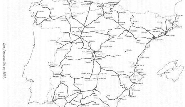 Teruel con un tren del S XIX y rodeado de líneas AVE