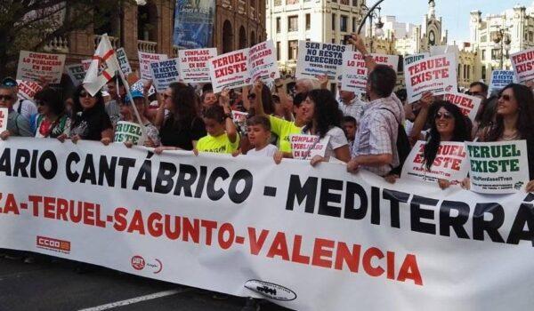 MANIFIESTO en VALENCIA por el Corredor Ferroviario entre Zaragoza -Teruel – Sagunto