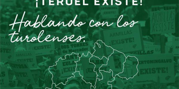 Teruel Existe hablando con los turolenses por las Comarcas