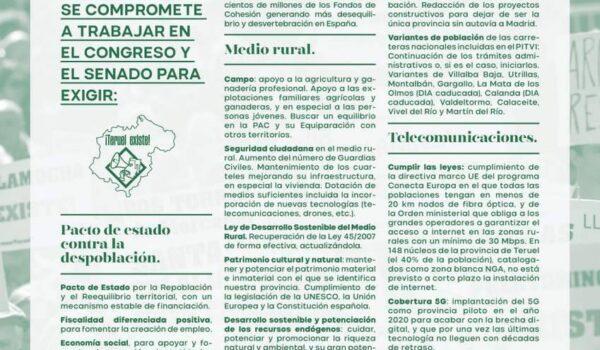 Programa electoral Teruel Existe