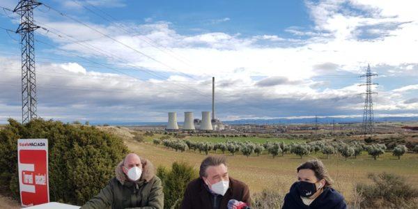Teruel Existe denuncia que si se derruye la central de Andorra se limitarían las opciones de desarrollo en la transición energética