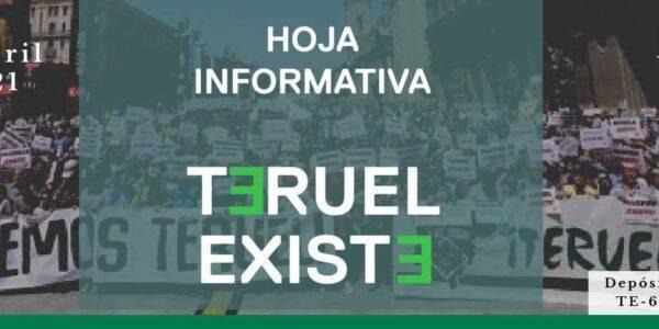 Hoja informativa Teruel Existe nº2. Abril 2021