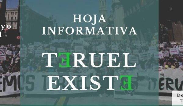 Hoja informativa Teruel Existe nº 3. Mayo 2021
