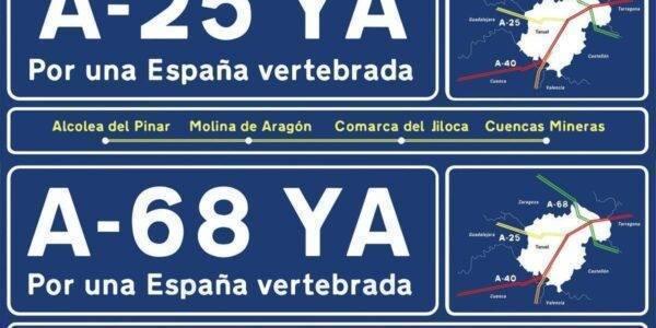 Consigue pancartas y vinilos para reivindicar la A-40, A-68, A-25 YA en 188 pueblos de 7 provincias