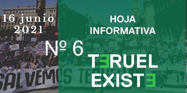 6. Hoja informativa de Teruel Existe. Junio 2021