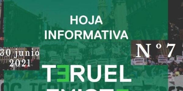 7. Hoja informativa de Teruel Existe. Junio 2021