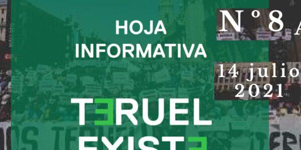 8. Hoja informativa de Teruel Existe. Julio 2021