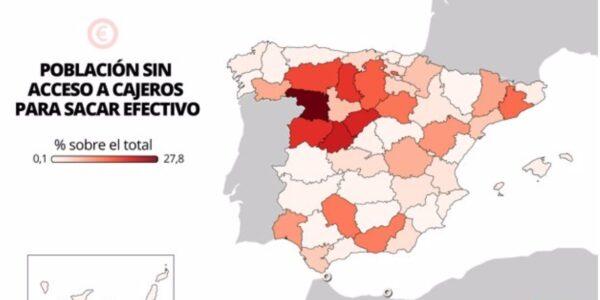 La exclusión financiera crece en la España Vaciada y siguen sin llegar los cajeros multientidad propuestos por Teruel Existe
