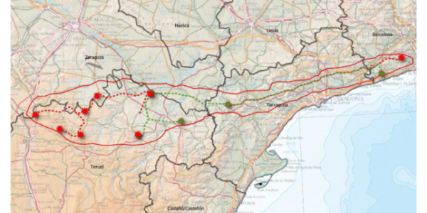 Teruel Existe solicita en el Senado que se eliminen todas las líneas de alta tensión del proyecto Sputnik entre Aragón y Cataluña