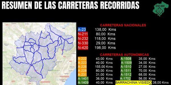 Estudio de cobertura en carreteras turolenses de Teruel Existe: en un 30% no es posible llamar y entorno al 40% sin datos