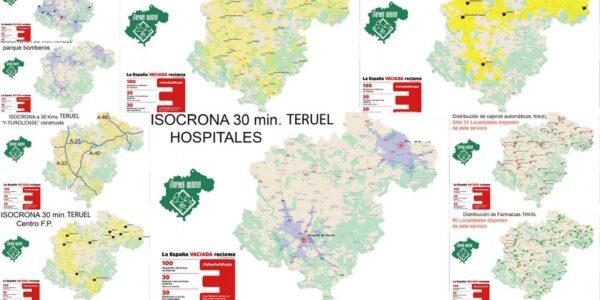 Teruel Existe detalla en mapas las carencias en el acceso a servicios y comunicaciones en la provincia, y exige el Plan 100/30/30