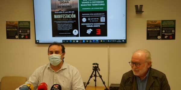 """Teruel Existe organiza autobuses a la manifestación de Aliente en Madrid con 173 plataformas """"contra la invasión de renovables"""""""